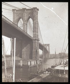 Cobweb and the flies; from South Street, NY. Collection- Lantern Slide Collection Views- U.S., Brooklyn Brooklyn Bridge 1896-1900