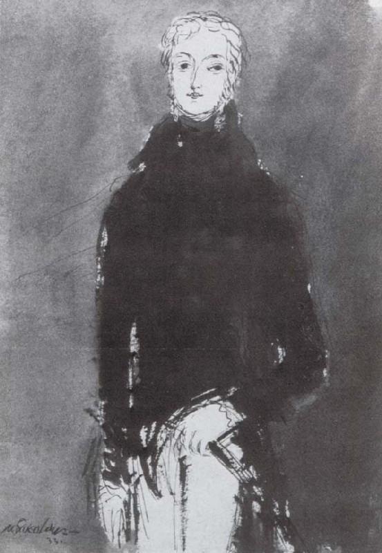 "Mikhail Sokolov, ""Barthélemy Catherine Joubert [Жубер],"" from Figures of the 1789 French Revolution (1930-1934)"