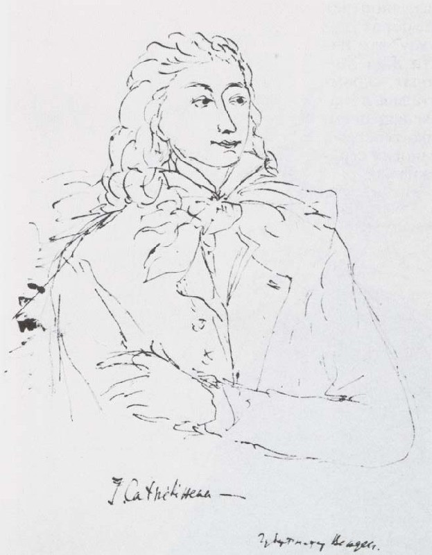 """Mikhail Sokolov, """"General Jacques Cathelineau [Кателино],"""" from Figures of the 1789 French Revolution (1930-1934)"""