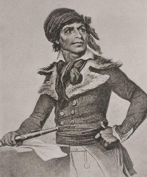 Historical depiction of Jean-Paul Marat