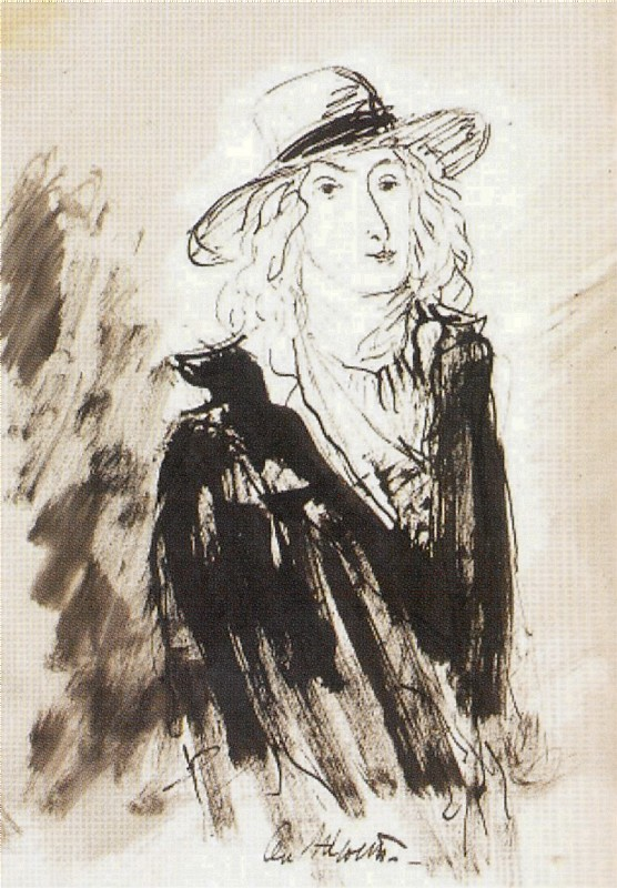 "Mikhail Sokolov, ""Louis-Antoine de Saint-Just [Сен-Жюст],"" from Figures of the 1789 French Revolution (1930-1934)"