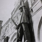 Figure on the Iberian Gate on Red Square, 1931 (photo by the German architect Ernst May)