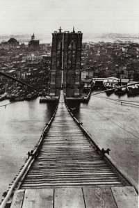 Footpath on the Brooklyn Bridge, 1880s