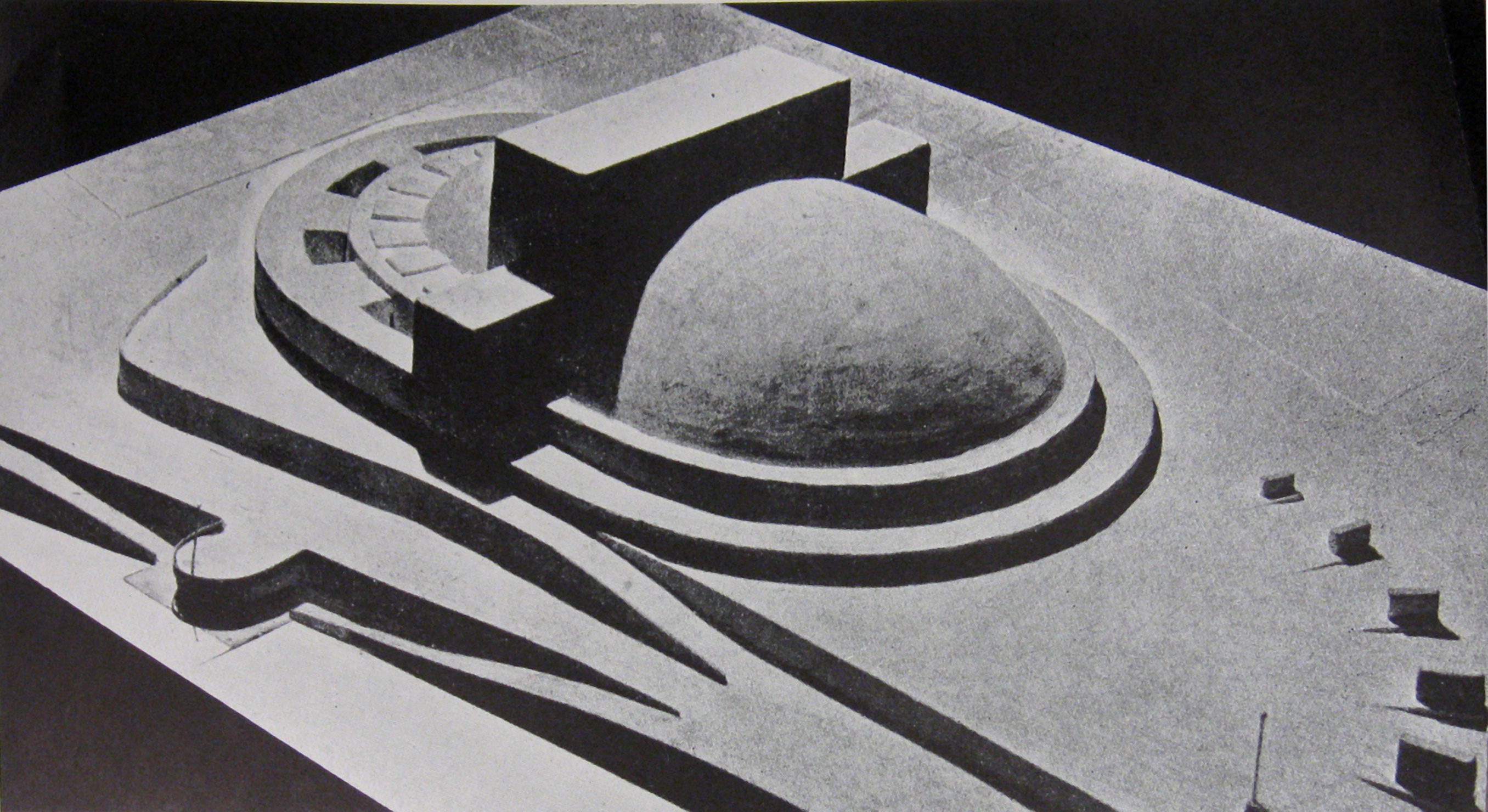Erich Mendelsohn, model of the submission to the Palace of the Soviets competition (1931)