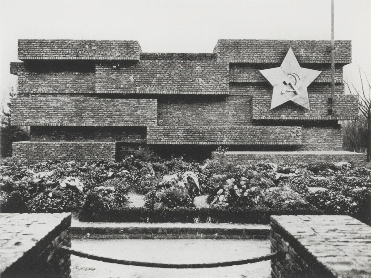 Monument to Rosa Luxemburg and Karl Liebknecht [Revolutionsdenkmal] (built 1926, destroyed 1935), designed by pioneering modernist Ludwig Mies van der Rohe
