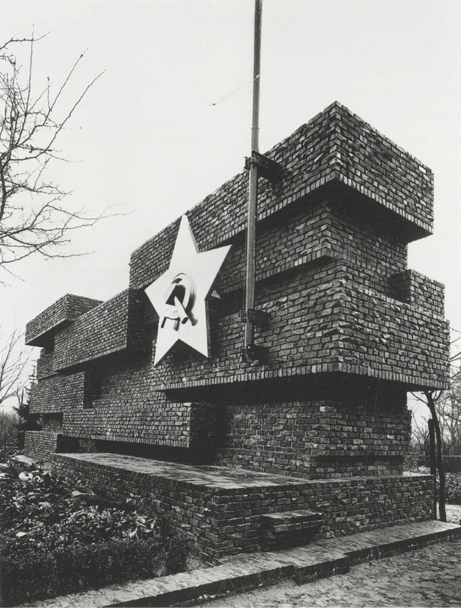 Monument to Rosa Luxemburg and Karl Liebknecht [Revolutionsdenkmal] (built 1926, destroyed 1935), designed by pioneering modernist Ludwig Mies van der Rohe. Photo by famous author Arthur Köstler, then a communist