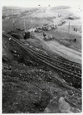 Railroad near mount Magnitaia, photo by Johan Niegeman 1931