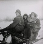 Sledge tour, Tyrgan, Ernst May to the right circa 1931