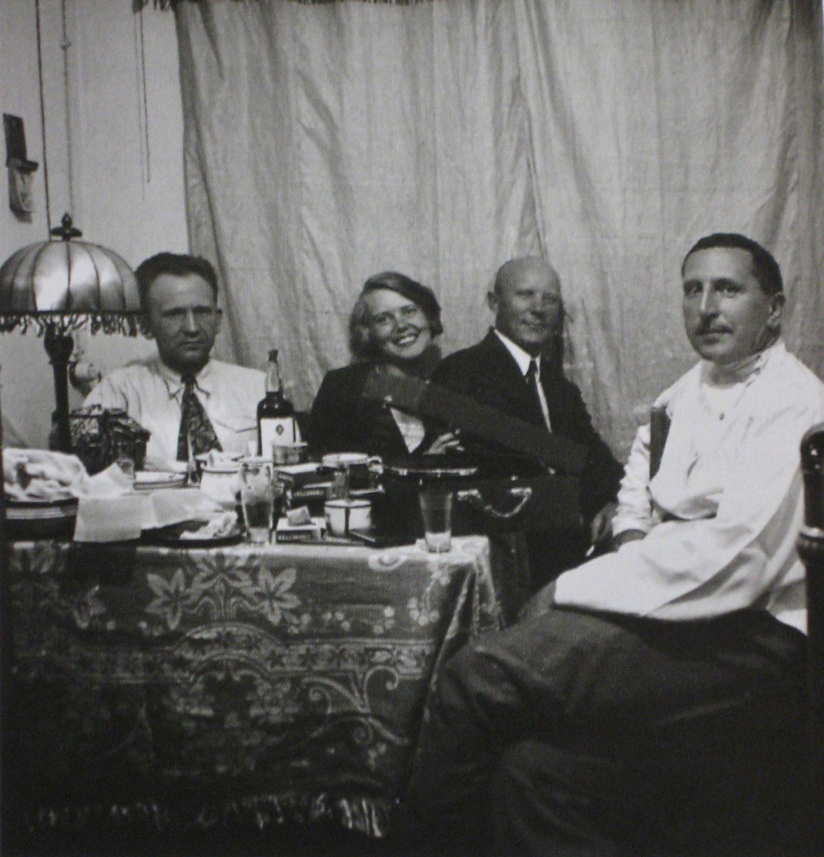 Wilhelm Hauss, Jekaterina Nikolaevna, Frolov, and Ernst May, Magnitogorsk circa 1931)