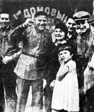 Hannes Meyer and his family in Moscow, USSR for May Day, 1930