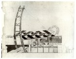 Konstantin Mel'nikov, further sketches for the Soviet pavilion in Paris (1925)