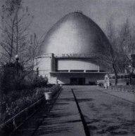 Moscow Planetarium, 1966; Mikhail Barshch, M. Siniavskii, and G. Sundblat, architects.