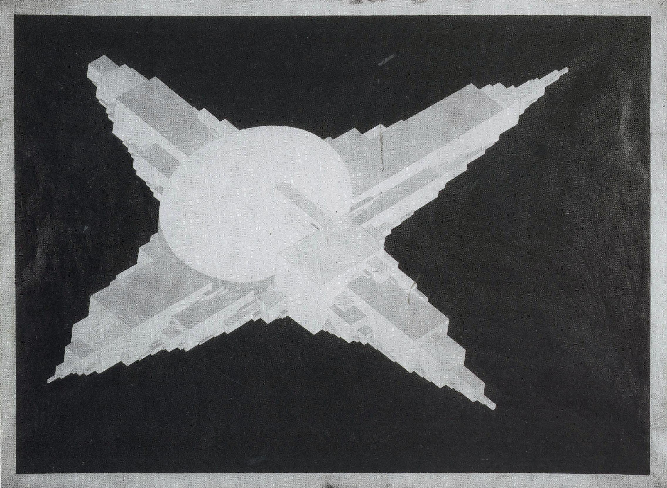 Il'ia Chashnik - Supremolet Suprematist Planit 1927-1928 India ink on paper 62,4 x 84,6 cm1