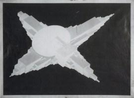 Il'ia Chashnik - Supremolet Suprematist Planit 1927-1928 India ink on paper 62,4 x 84,6 cm1