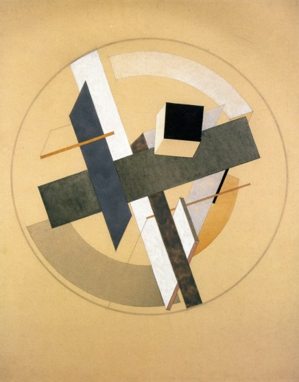 Proun AII El Lissitzky - 1920 Private collection Drawing Height- 56 cm (22.05 in.), Width- 45 cm (17.72 in.)