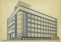 Il'ia Golosov Elektrobank proposal for Moscow, 1927