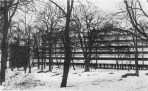 Narkomfin, winter view 1930s