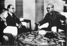 Subhash Chandra Bose and Hideki Tojo, Tokyo, Japan (June 10, 1943)