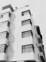 Moisei Ginzburg, Gosstrakh apartment building in Moscow (1926), early photograph