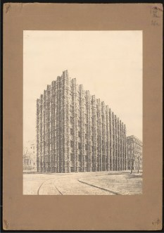 Hans Poelzig (1869-1936) Bankgebäude, Dresden (1918-1921) Ansicht Foto Foto auf Karton 49,00 x 35,00 cm Inv.-Nr. 2782