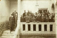 Rosa Luxemburg and other international socialist leaders, including Karl Kautsky (German), Victor Adler (Austria), Georgii Plekhanov (Russia), Edouard Vaillant (France) and Sen Katayama (Japan).