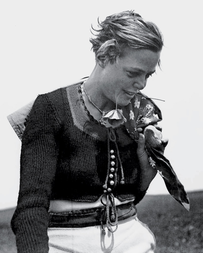 Charlotte Perriand in 1934, left