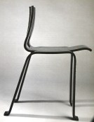 Ombre chair, stackable, casted plywood , 1956