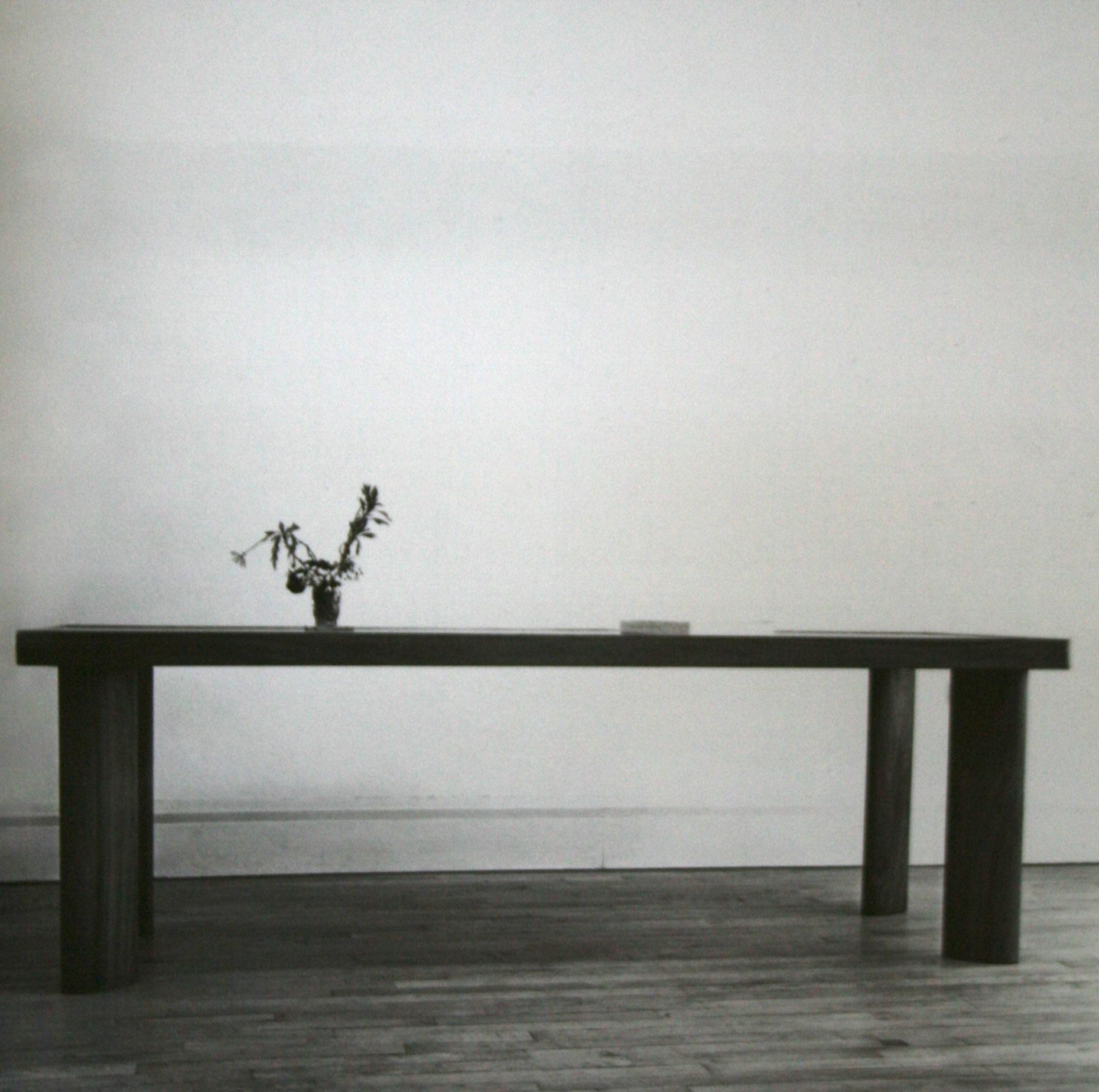 Table de salle à manger, bois massif, pour Paul et Ange Gutmann, 1935