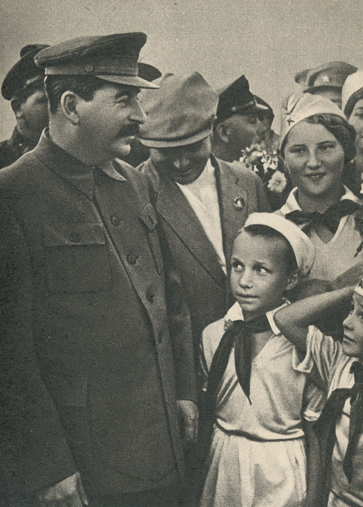 I.V. Stalin among children at the Tushino airfield. the year 1936