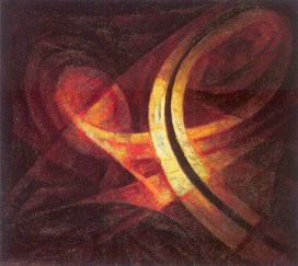 Ivan Kudriashev, orbital trajectory of a planet hurling toward the sun, 1926.