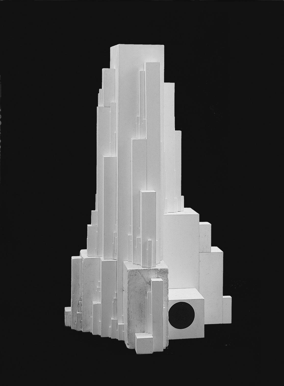 Architekton Gota Enlarge. Kazimir Malevich. Architekton Gota (Arkitekton Gota), 1923. Plaster. 85.3 x 56 x 52.5 cm. Russian State Museum, St. Petersburg