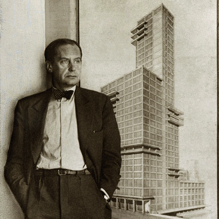 Walter Gropius and Adolf Meyer, competition entry to the Chicago Tribune tower (1922)