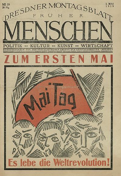 %22Menschen%22 (Humains), journal socialiste des travailleurs immigrés à Dresde - %221er Mai - Vive la Révolution Mondiale%22