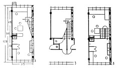 F type apartment 3 levels plans