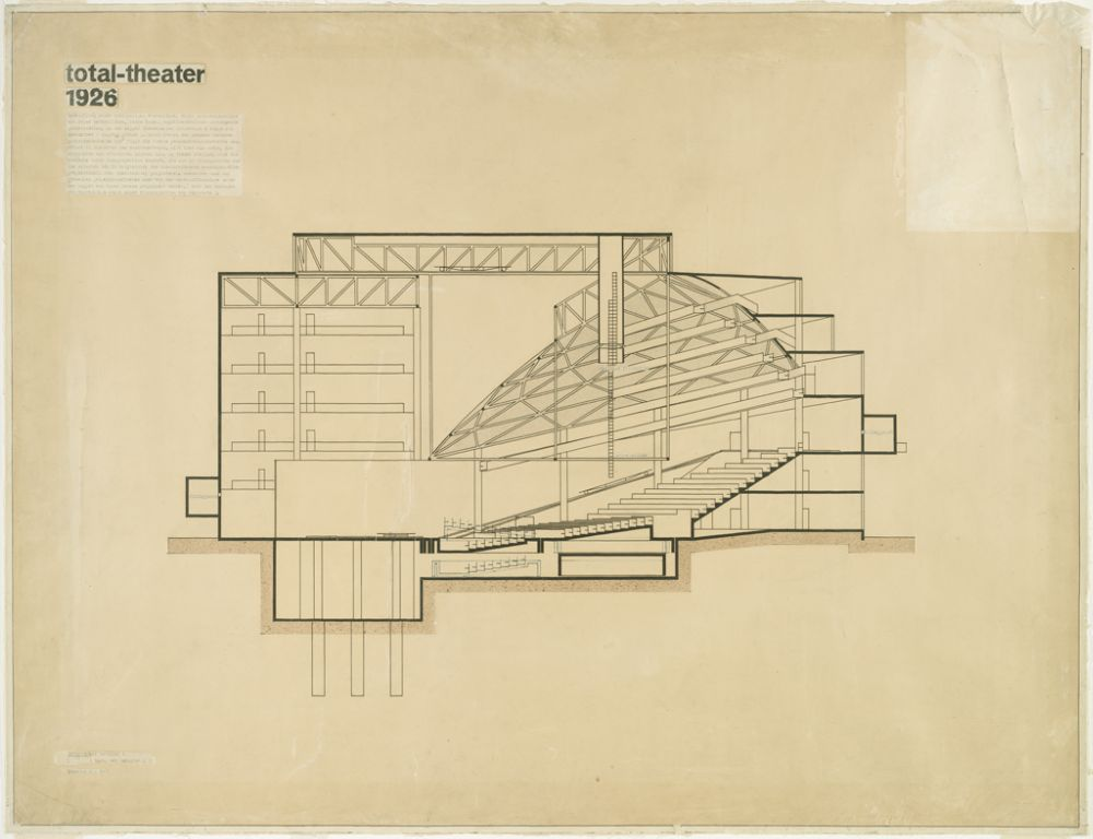 Total Theater for Erwin Piscator, Berlin, 1927i