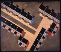 Walter Gropius (American, b. Germany, 1883-1969). Row houses, isometric, 1926-28. Törten housing estate, Dessau, 1926-28. Ink, spatter paint, and gouache, on paperboard. 34 15:16 x 42 1:4 in. (88.8 x 107.3 cm). Gift of Walter Gropius.