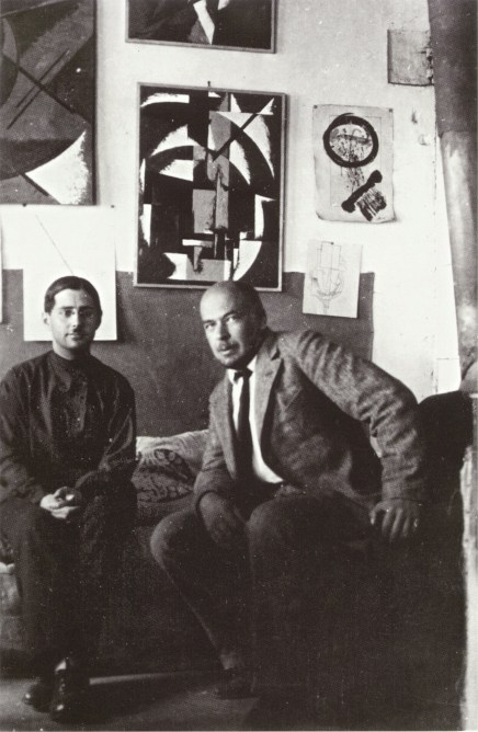 Aleksandr Vesnin with Liubov Popova's brother