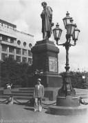 Памятник А.С. Пушкину на Пушкинской площади 1952