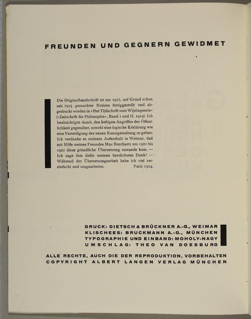 Theo van Doesburg, Grundbegriffe der neuen gestaltenden Kunst. Bd. 6, München 1925%0ATheo van Doesburg, Grundbegriffe der neuen gestaltenden Kunst. Bd. 6, München 1925-6