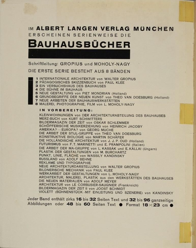 Theo van Doesburg, Grundbegriffe der neuen gestaltenden Kunst. Bd. 6, München 1925%0ATheo van Doesburg, Grundbegriffe der neuen gestaltenden Kunst. Bd. 6, München 1925-70