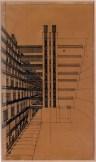 Antonio Sant'Elia, La città nuova. Casa a gradinata, 1914. Roma, collezione privata