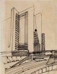 Casa con ascensori esterni e sistemi di collegamento su più piani stradali