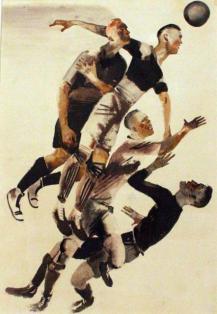 Дейнека А.А. Футбол 1928. Бумага, акварель. 32,8 х 22,9. Ивановский областной художественный музей