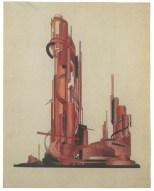 Iakov Chernikhov, composition (1920s), 30 x 23,8cm