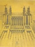 La Citta Nuova, Central Railway Station and Airport. 1913-1914, Antonio Sant'Elia, a leading Futurist who was killed in WWI