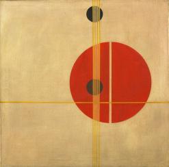 Q 1 Suprematistic László Moholy-Nagy. (American, born Hungary. 1895-1946). Q 1 Suprematistic. 1923. Oil on canvas, 37 1:2 x 37 1:2%22