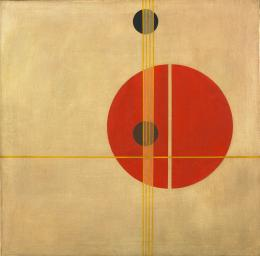 Q 1 Suprematistic László Moholy-Nagy. (American, born Hungary. 1895-1946). Q 1 Suprematistic. 1923. Oil on canvas, 37 1:2 x 37 1:2%22