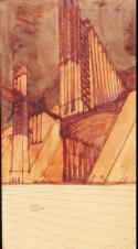 Sant'Elia, Antonio, 1888-1916 Title New City Date 1914 Material ink and watercolor