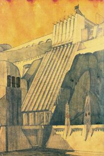 Sant'Elia, Antonio (Italian architect, 1888-1916) Culture Italian Title Power Station Work Type Architectural drawings Date 1914