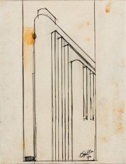 Studio plastico-architettonico di volumi accostati decrescenti